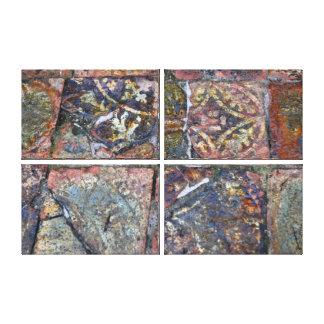 De middeleeuwse Tegels van de Vloer Stretched Canvas Afdrukken