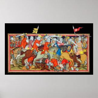 De middeleeuwse verlichting van het slag unieke poster