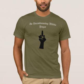 De Middelvinger T van Uncondmening met Citaat T Shirt