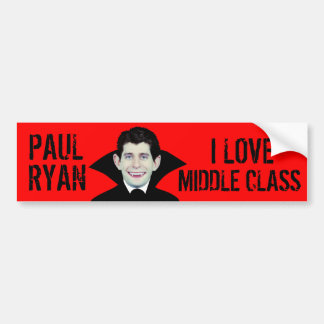 De Middenstand van Paul Ryan Loves Bumpersticker