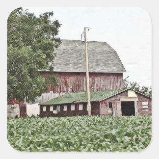 De midwesten Doorstane Stickers van de Landbouw