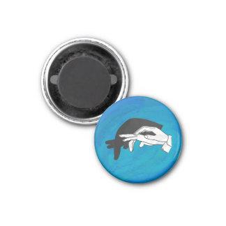 De Miereneter van de schaduw op Blauw Koelkast Magneetjes