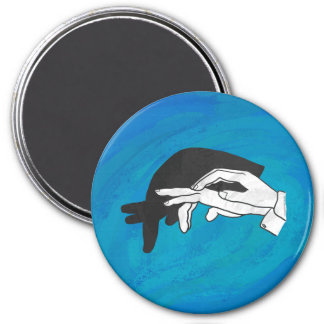 De Miereneter van de schaduw op Blauw Ronde Magneet 7,6 Cm