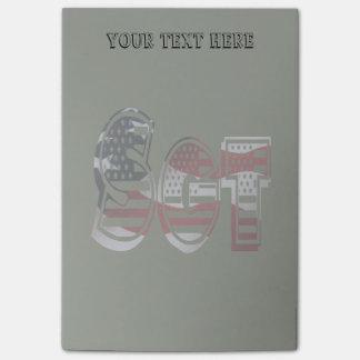 De Militaire Groene Amerikaanse Sergeant Sgt van Post-it® Notes