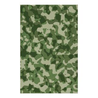 De militaire Groene Camouflage van het Oerwoud Briefpapier