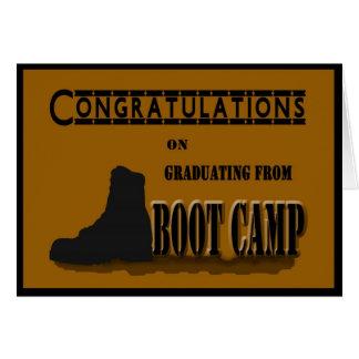 De militaire Kaart van de Afstuderen van Boot Camp