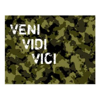De militaire overwinning Veni Vidi Vici van de Briefkaart