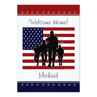 De militaire Welkome naar huis Gepersonaliseerde Kaart