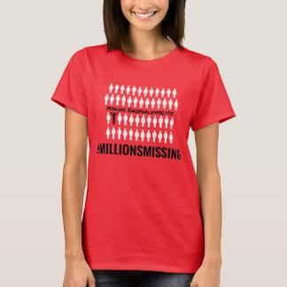 De #MillionsMissing T-shirt van Vrouwen