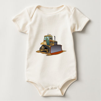 De mini Cartoon van de Bulldozer Baby Shirt