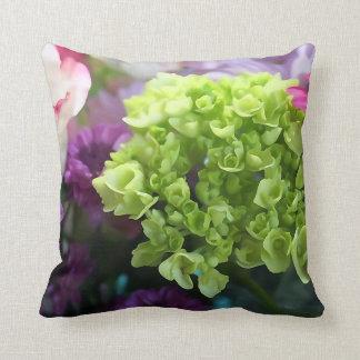 De mini Groene Bloem van de Hydrangea hortensia Sierkussen