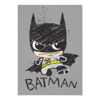 De mini Klassieke Schets van Batman 12,7x17,8 Uitnodiging Kaart
