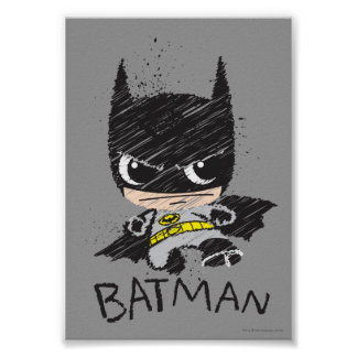 De mini Klassieke Schets van Batman Poster