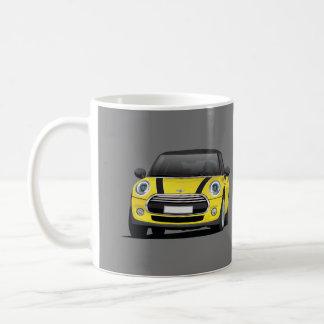 De mini Kuiper S, 2 gele afbeeldingmok van het Koffiemok