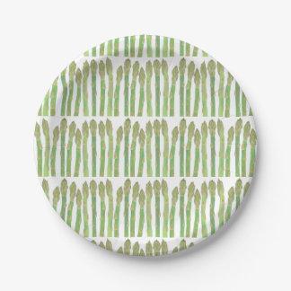 De mini salade van de Asperge Papieren Bordje