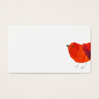 De minimale & Artistieke Dierlijke Mooie Rode Visitekaartjes