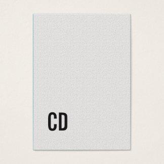 De minimale Elegante Adviseur van het Monogram van Visitekaartjes