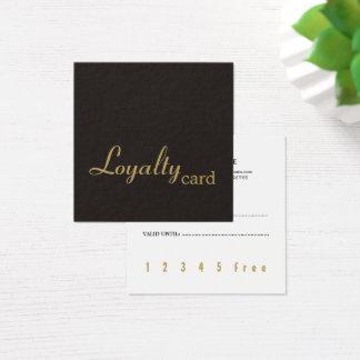 De minimale Elegante Donkere Gouden Kaart van de Vierkant Visitekaartjes