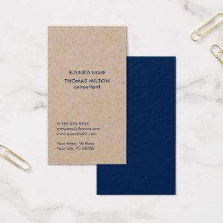 De minimalistische Eenvoudige Blauwe Adviseur van Visitekaartjes