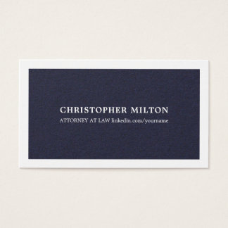 De minimalistische Elegante Blauwe Adviseur van de Visitekaartjes