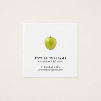 De minimalistische Elegante Groene Vierkante Visitekaartjes