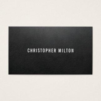 De minimalistische Elegante Zwarte Adviseur van de Visitekaartjes