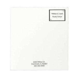 De minimalistische Professionele Zwarte Zaken van Notitieblok