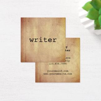 De minimalistische Rustieke Auteur van de Vierkante Visitekaartjes