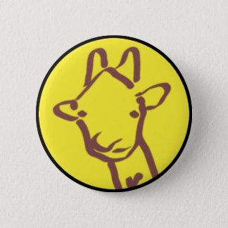 de minimalistische Tekening van de Giraf Ronde Button 5,7 Cm