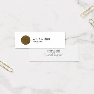 De minimalistische Witte Adviseur van de Cirkel Mini Visitekaartjes