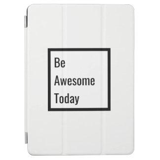 De minimalistische Zwarte & Witte Motivatie iPad Air Cover