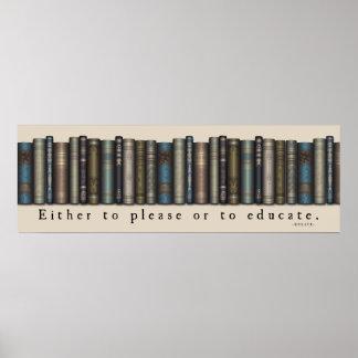 De Minnaar Horatius Quote Old Books Poster van het