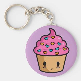 De Minnaar Keychain van Cupcake Basic Ronde Button Sleutelhanger