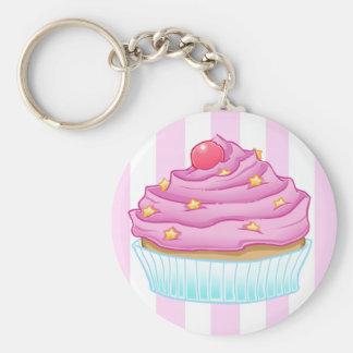 De Minnaar van Cupcake Basic Ronde Button Sleutelhanger