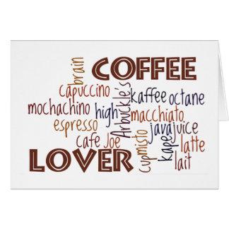 De Minnaar van de koffie Kaart