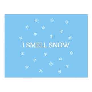 De minnaar van de Sneeuw Briefkaart