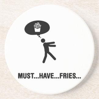 De minnaar van frieten zandsteen onderzetter