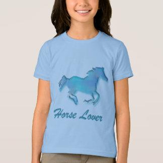 De Minnaar van het paard in Turkoois T Shirt