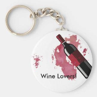 De Minnaars Keychain van de wijn Sleutelhanger