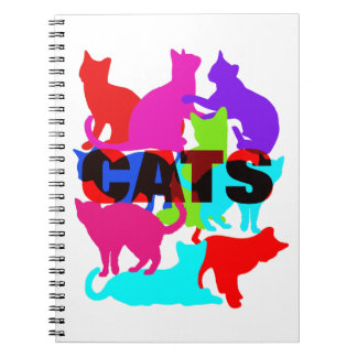 De Minnaars Kleurrijke Katachtige Themed van de Notitieboek