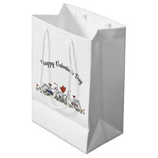 De Minnaars Valentijn van de fiets Medium Cadeauzakje