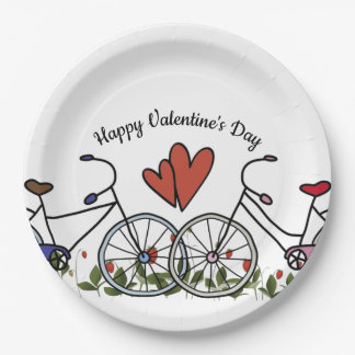 De Minnaars Valentijn van de fiets Papieren Bordje