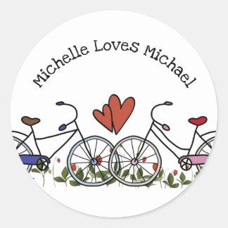 De Minnaars Valentijn van de fiets Ronde Sticker