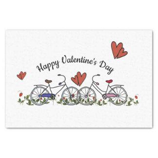 De Minnaars Valentijn van de fiets Tissuepapier