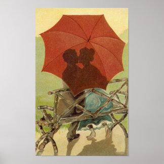 De Minnaars van de paraplu Poster
