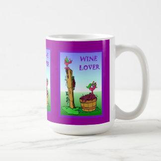 De minnaars van de wijn, druiven koffiemok