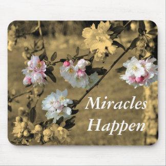 De mirakelen gebeuren de Bloesems Mousepad van de  Muismat