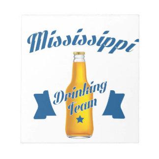 De Mississippi die team drink Notitieblok