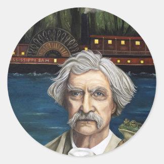 De Mississippi SAM Aka Mark Twain Ronde Sticker