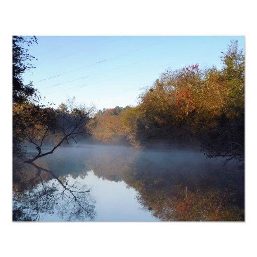 De Mist van de ochtend - Contentnea Kreek, NC Foto Afdruk
